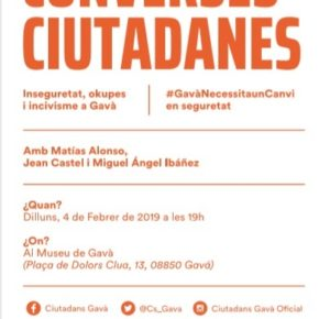 Charla sobre Seguridad en Gavà, con Matías Alonso, Jean Castel y Miguel Ángel Ibáñez